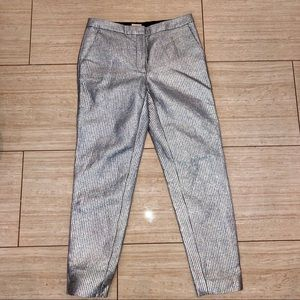 H&M shimmery silver pants